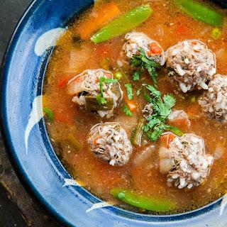 Albondigas Soup (Mexican Meatball Soup).