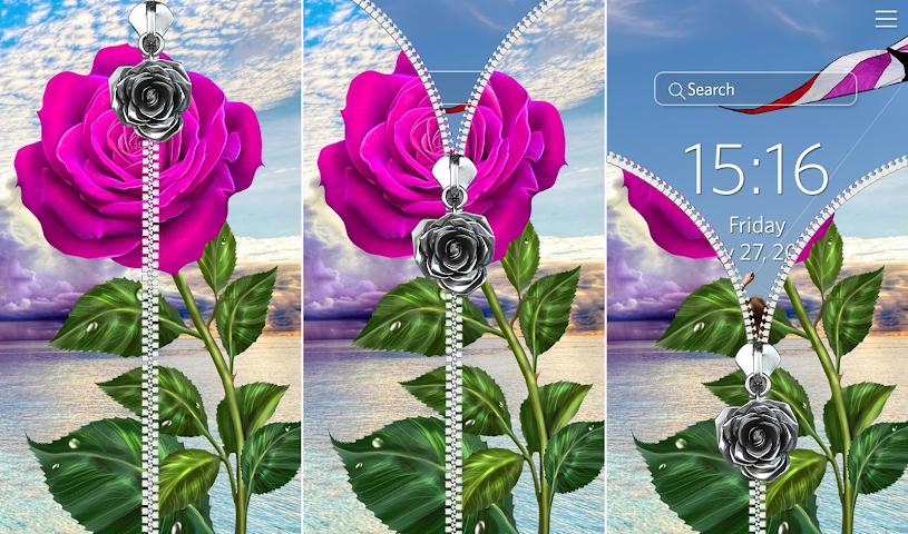 android Rose Bildschirm sperren. Screenshot 2