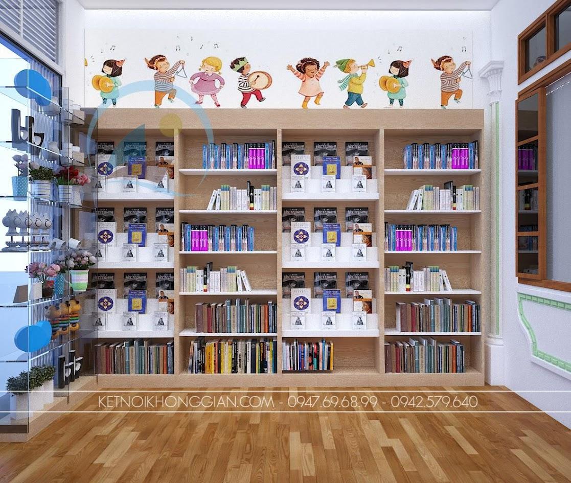 thiết kế nội thất nhà sách Dâu Tây 4