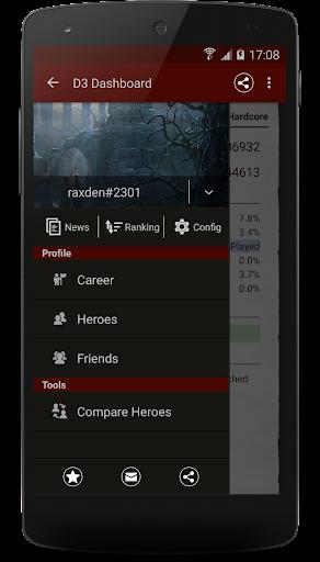 Mobile Dashboard for 디아블로3