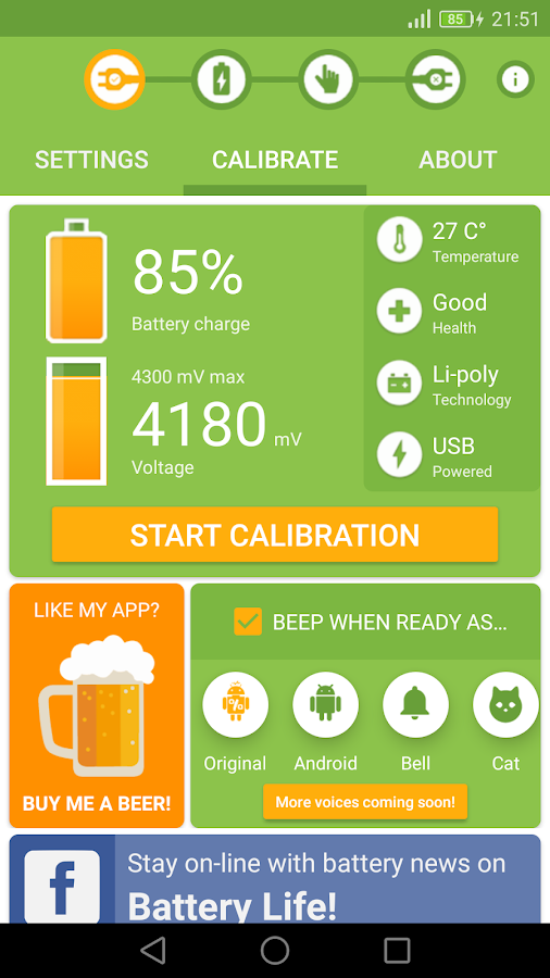 Battery Calibration- screenshot