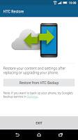 screenshot of HTC Restore