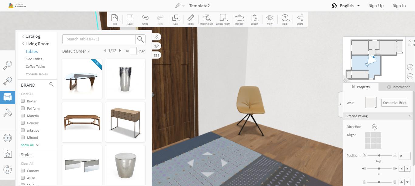 blueprint of living room