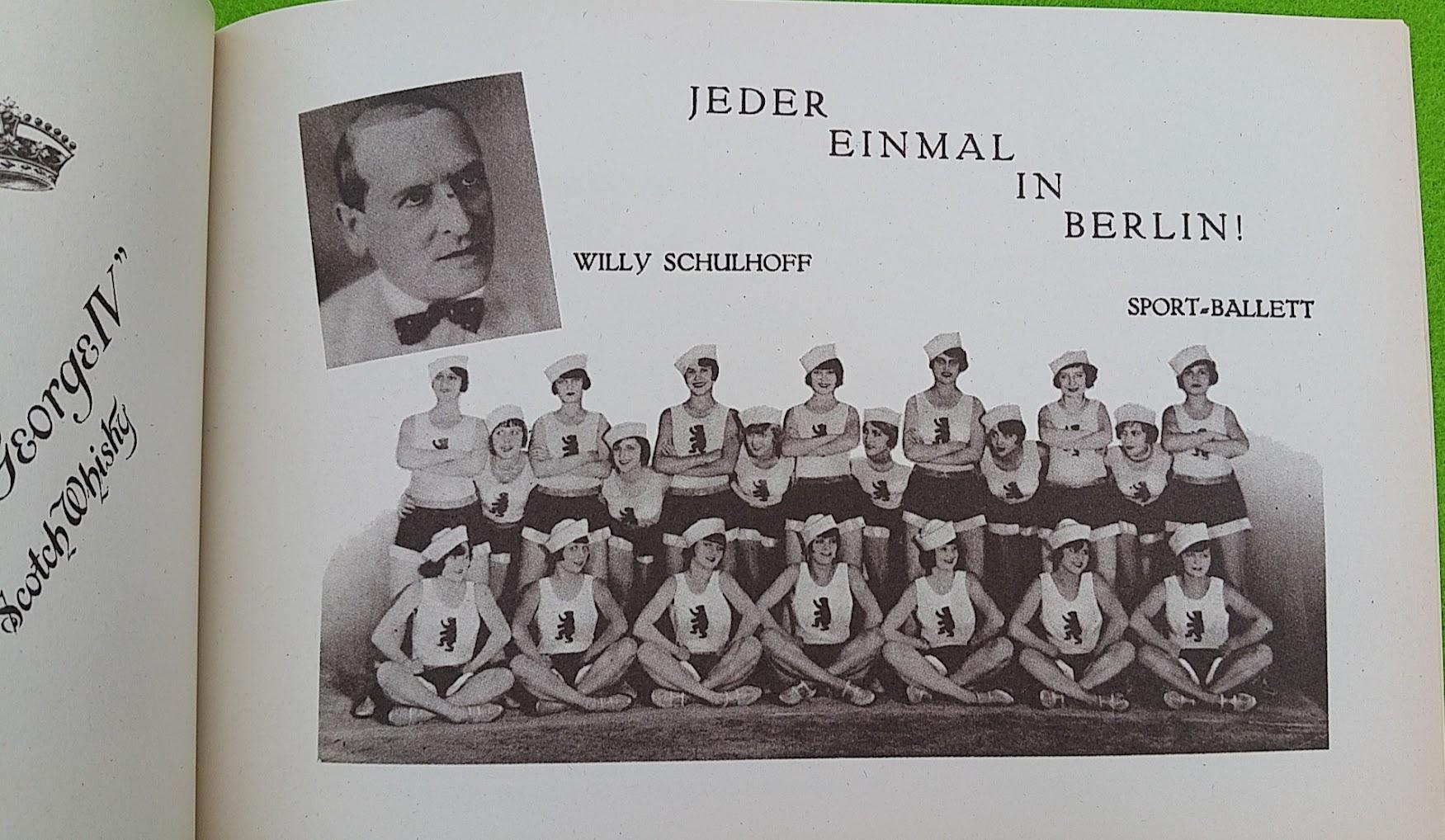 Begleitheft zur Eröffnung von Haus Vaterland am Potsdamer Platz, Berlin, 31. August 1928 - Sport-Ballett