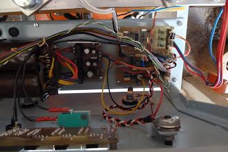 Photo: Napájací transformátor, DPS zdrojov, DPS riadenia a displej