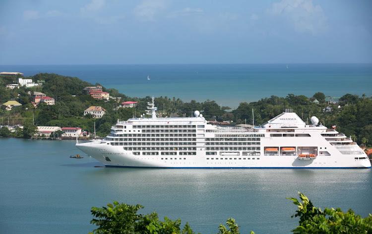 Silver Spirit alights in pretty St. Lucia.