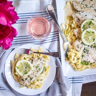 30 minute Lemon Chicken Pasta Skillet.