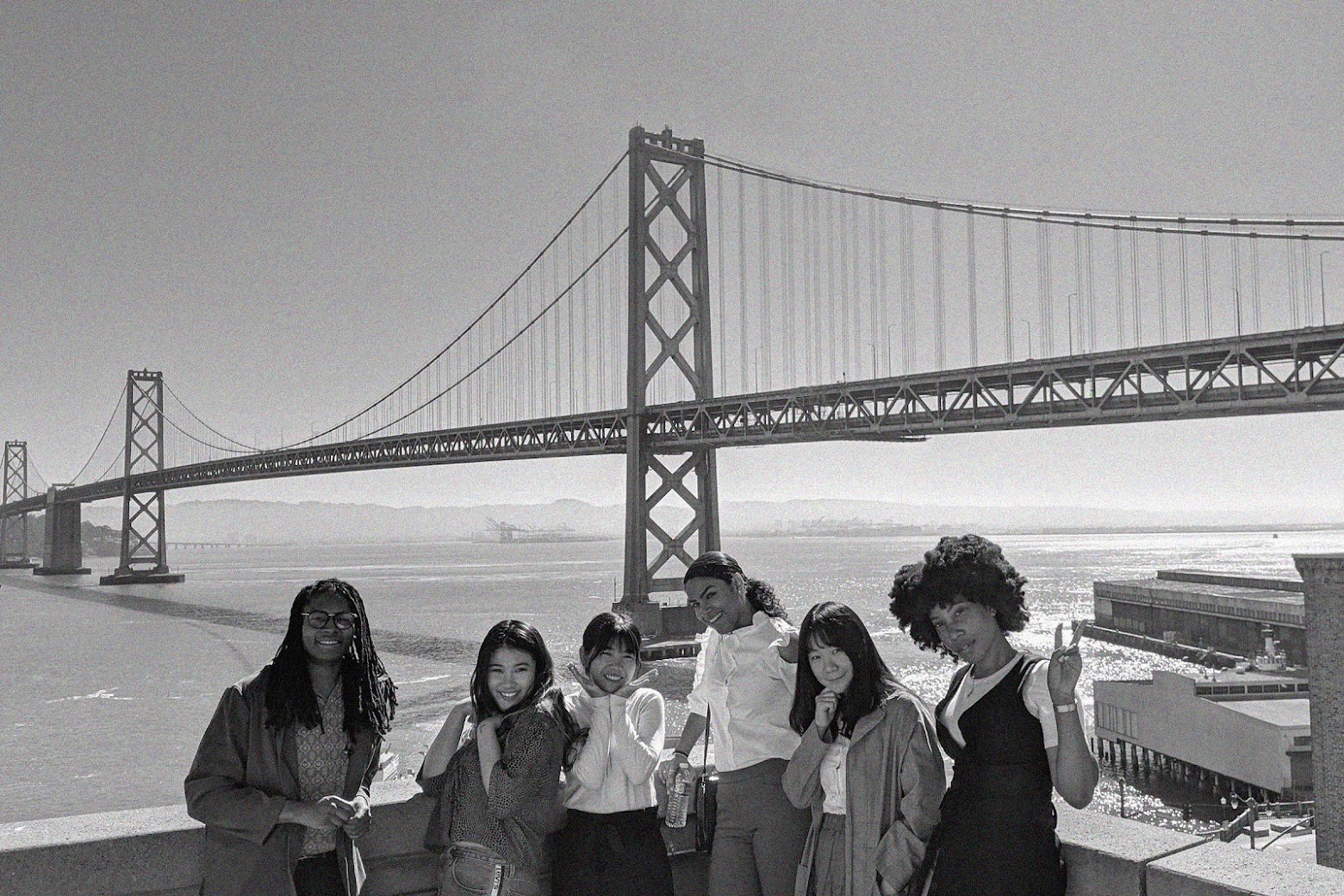 Group of Women in front of the Golden Gate Bridge