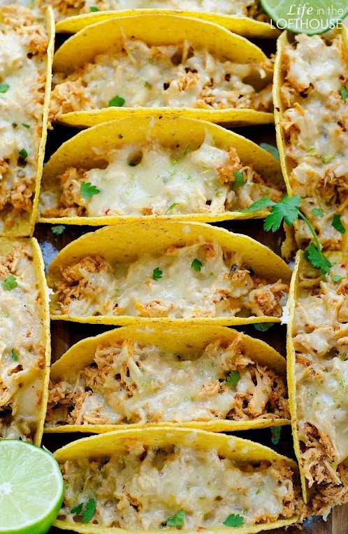 Click Here for Recipe: Oven Baked Honey Lime Chicken Tacos