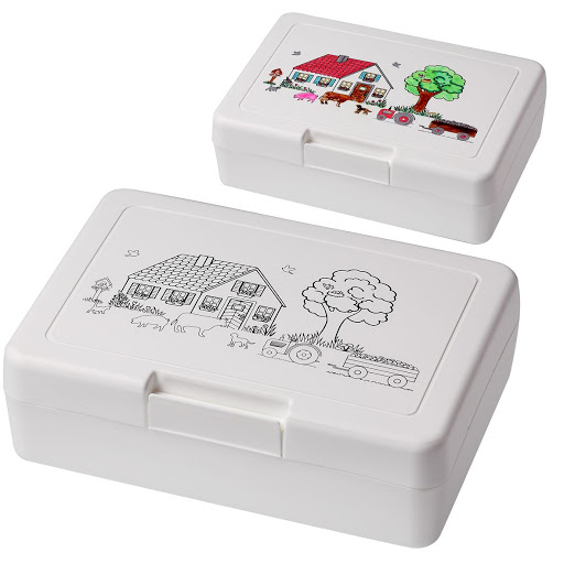 Lunch Box & Cup for Colouring