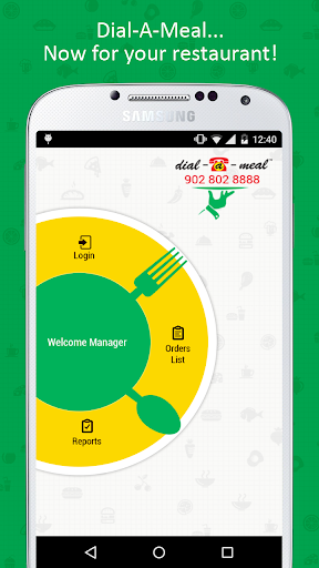 Dial-a-Meal Restaurant App
