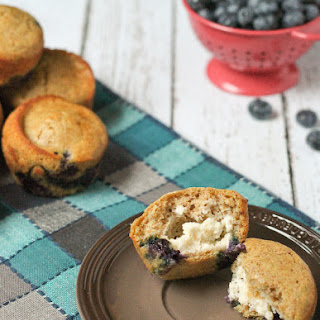 Blueberry Pancake Muffins with Cream Cheese Filling