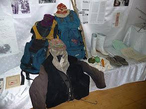 Photo: ナナオのリュックなどの遺品も展示されました