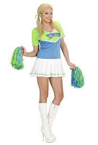 Cheerleaderklänning, Grön/Turkos