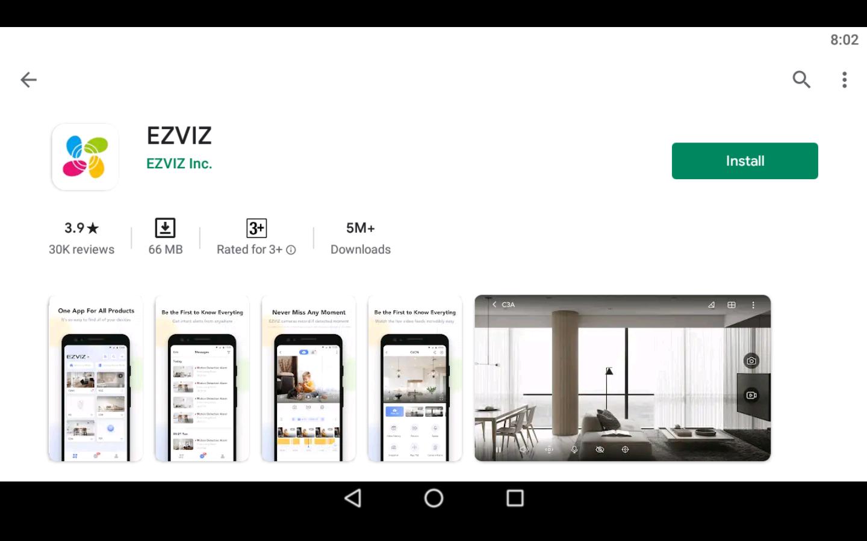 EZVIZ App on PC