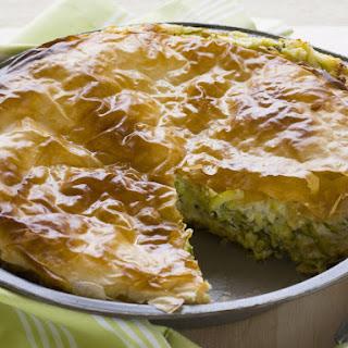 Zucchini, Feta and Ricotta Pie.