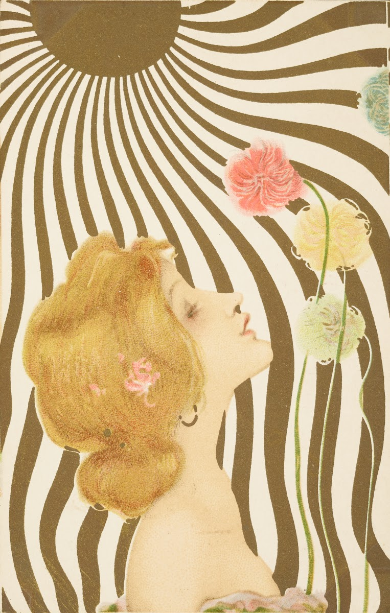Women In Art Nouveau Le Carton Voyageur Musee De La Carte