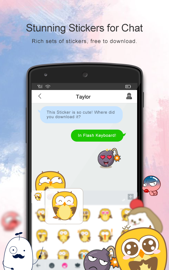 Flash Keyboard - Emojis & More- screenshot
