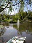 Photo: Yoga Farm, Grass Valley, CA - Pond and Fountain