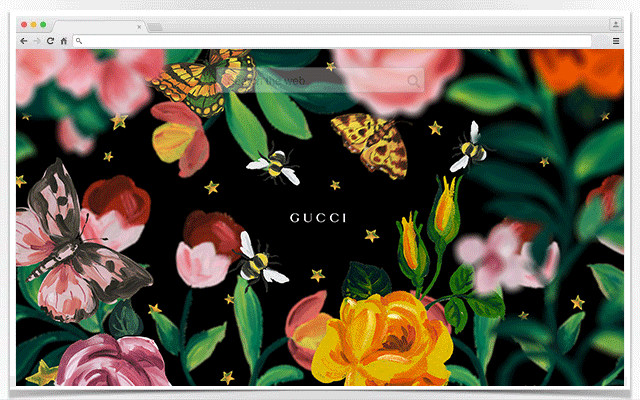 Gucci Wallpaper For Chrome Black And Gold Chrome Web Store