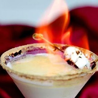 Flaming S'mores Cocktail
