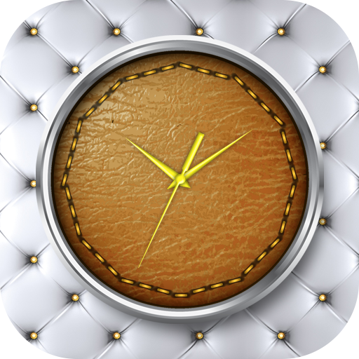 Leather Clock Live Wallpaper