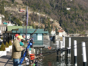Photo: Argegno fishermen Feb 2008