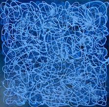 """Photo: """"Sirius"""", Bombe métallique sur toile. 80x80cm, carré."""