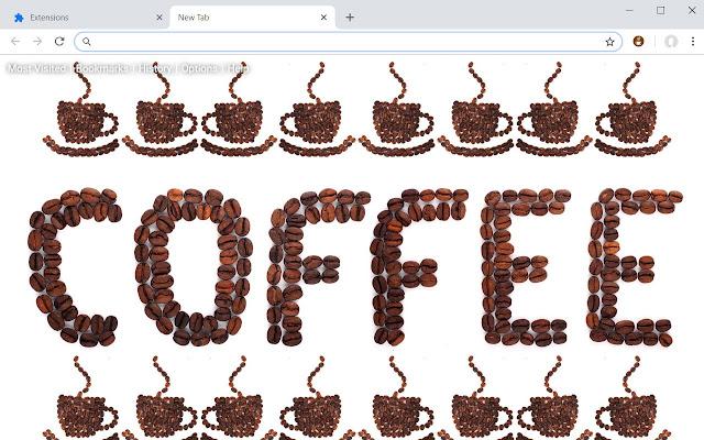 Coffee New Tab Theme HD Wallpapers