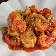 Szechuan Scallops & Shrimp