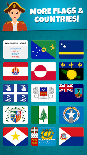 Flags of the World 2: Map - Geography Quiz screenshots 5