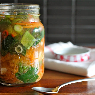 Miso Veggie Soup In A Jar
