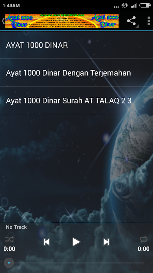 Download Bacaan Ayat Seribu Dinar Dalam