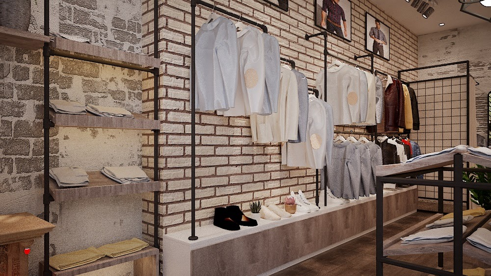 Thiết kế cửa hàng thời trang nam giá rẻ