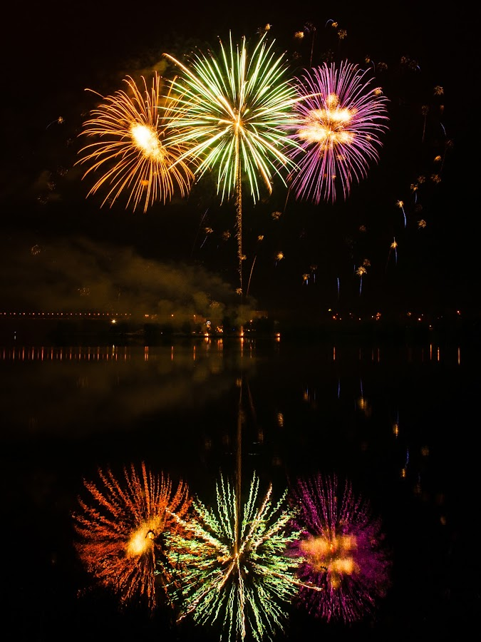 Fireworks 2012 in Pilsen 2 by Martin Zenisek - Abstract Fire & Fireworks ( mirror, water, fireworks, night,  )