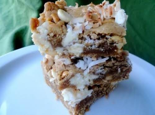 """Click Here for Recipe: Island Cookie Bars """"Made the Island Bars today..."""