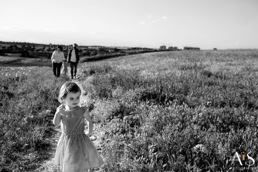 En un campo de amapolas