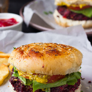 Vegan Quinoa Beet Burgers.