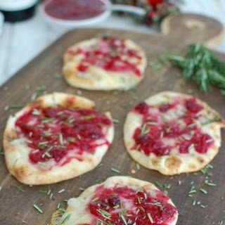 Warm Brie Cranberry Naan