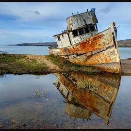 Shipwreck at Pt Reyes  by James Rudick - Transportation Boats ( hdr, shipwreck, seascpe, pt reyes,  )