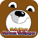 Cute Bear Cartoon Wallpaper icon