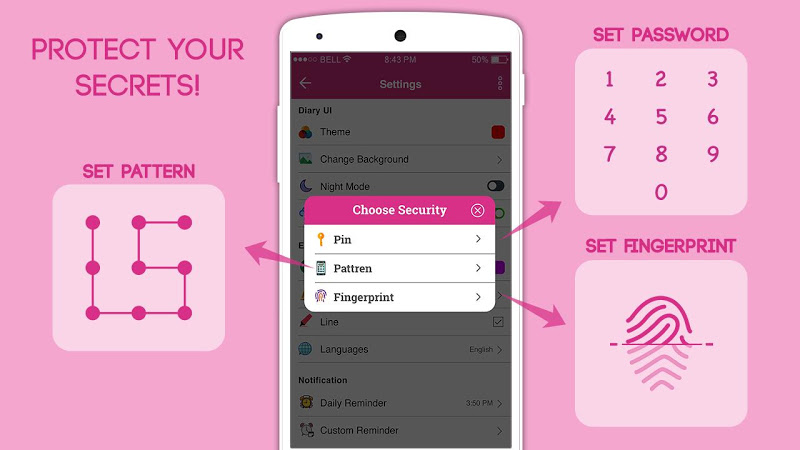 Secret Diary With Lock - Diary With Password Screenshot 2