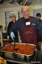 Photo: Joe serving meatballs