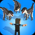 Jurassic Hopper: Crossy Dinosaur Shooter Game icon