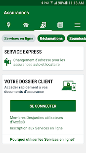 Desjardins assurances auto ha applications android sur for Assurance desjardins maison