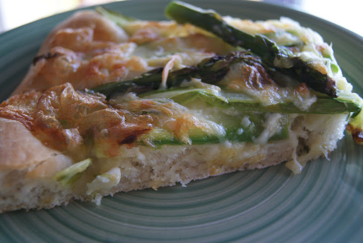 Pizza with Asparagus and Camembert Cheese Recipe