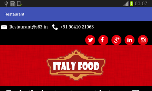 Italy Food - Restaurant