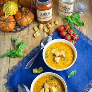 Easy Shredded Veggie Minestrone Soup