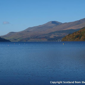 Loch Tay and Ben Lawers from Kenmore by Bruce Philip - Landscapes Waterscapes
