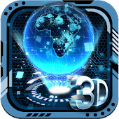 3D Tech Erde Thema Launcher